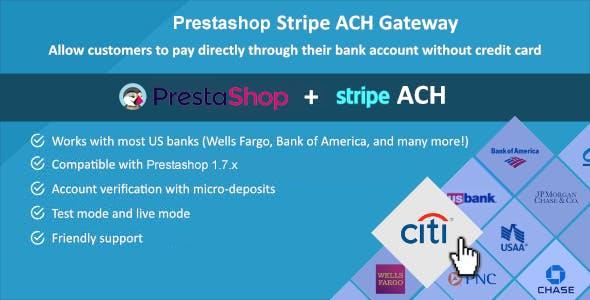 Prestashop Stripe ACH Gateway
