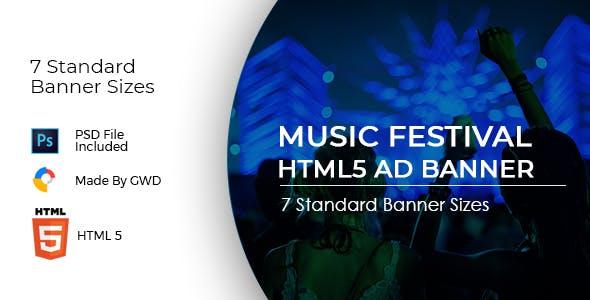 Music Festival HTML5 Ad Banner