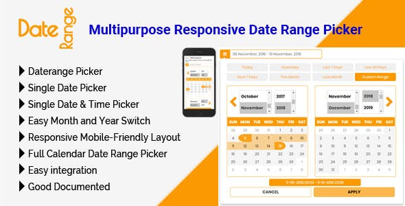 DateRange - Multipurpose Responsive Date Range Picker