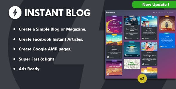 Instant Blog - Fast & Simple Blog Php Script