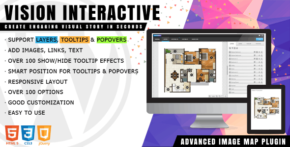 Vision Interactive - Image Map Builder for WordPress - CodeCanyon Item for Sale