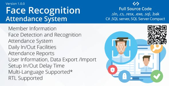 Face Recognition Attendance System (C#, Multilanguage, RTL)