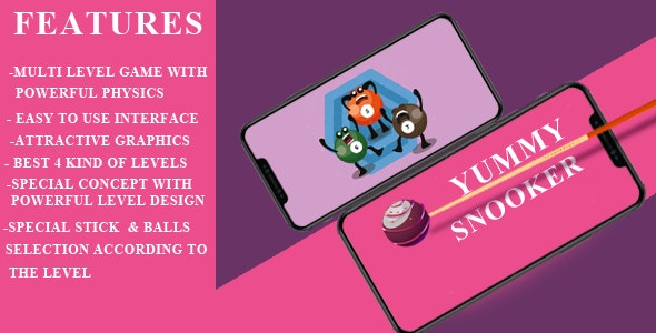 Yummy Snooker Game Template - CodeCanyon Item for Sale