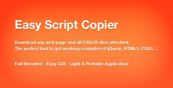 Easy Script Copier - Extract HTML, CSS and JS !