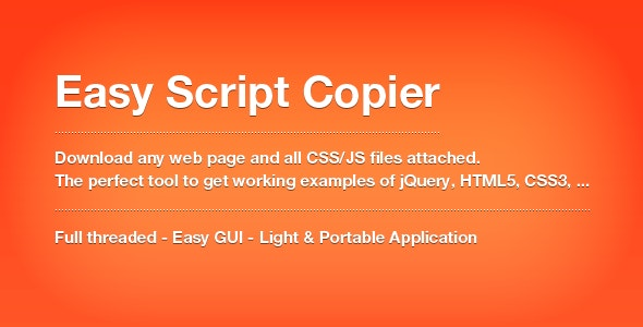 Easy Script Copier - Extract HTML, CSS and JS ! by