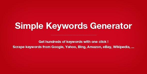 Simple Keywords Generator - CodeCanyon Item for Sale