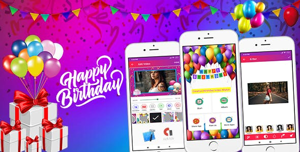 Birthday Video Maker (Android App)