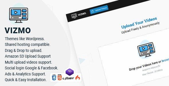 Vizmo - Simple Video Hosting Script