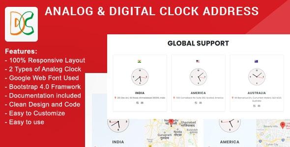 Analog & Digital Clock Address - CodeCanyon Item for Sale