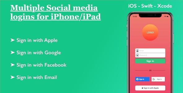 Social Media Logins iOS