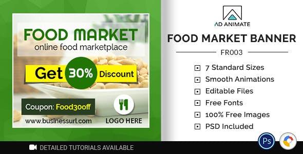 Food & Restaurant | Food Market Banner (FR003)