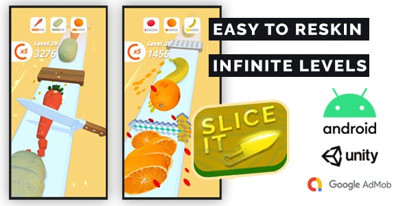 Perfect Slice 3D - Complete Unity Game + Admob