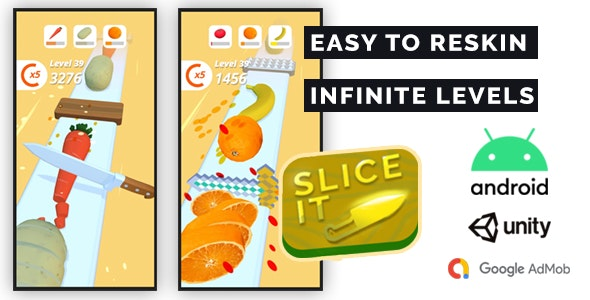 Perfect Slice 3D - Complete Unity Game + Admob - CodeCanyon Item for Sale