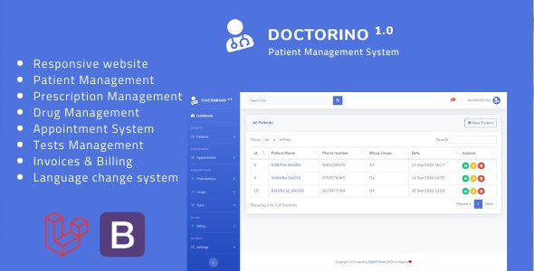 Doctorino - Doctor Chamber Management System - CodeCanyon Item for Sale