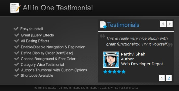 All in One Testimonial - CodeCanyon Item for Sale
