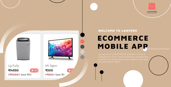 Lanvere - ecommerce mobile app iPhone