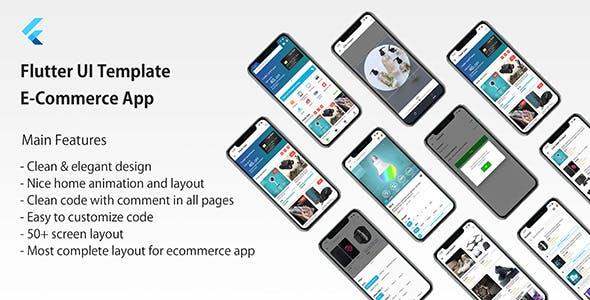 Flutter UI Template - E-Commerce App