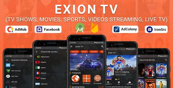 Exion TV - Watch Live TV with Movies (Live Streaming, IPTV, Shows, Series)