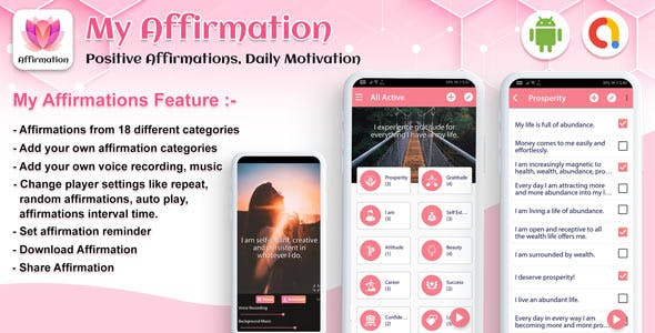 Android My Affirmation - Positive Affirmations, Daily Motivation - Quotes app (android app)