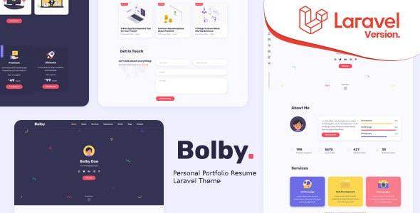 Bolby - - Personal Portfolio/CV/Resume Laravel Theme