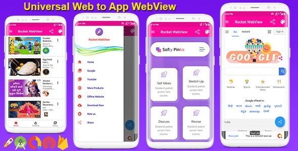 Android Native WebView App Full Template