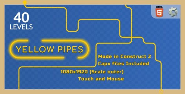 Yellow Pipes - HTML5 Casual Game