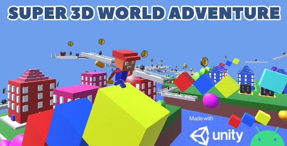 Super 3d World Adventure, Unity game source code - CodeCanyon Item for Sale