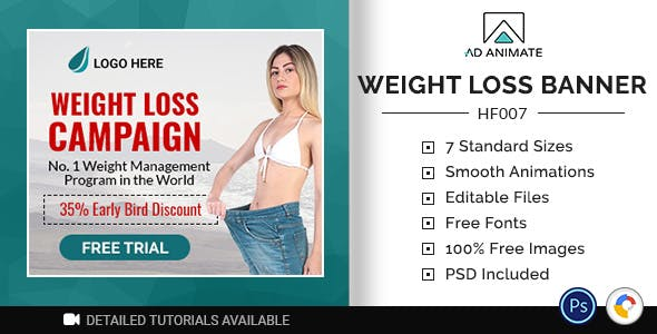 Health & Fitness | Weight Loss Banner (HF007)