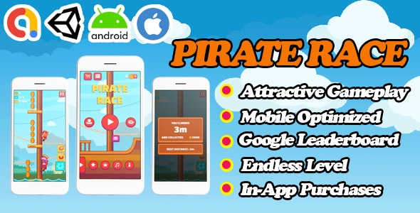 Pirate Race - Unity Funny Game Template - Admob + Facebook Ads - Ready To Publish - CodeCanyon Item for Sale