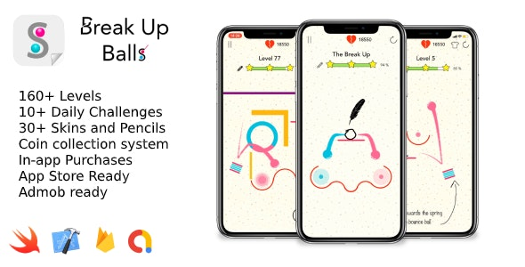 Break Up Balls - iOS 2D Game - CodeCanyon Item for Sale