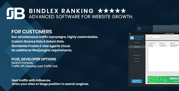 Bindlex Ranking. Advanced software for Website Growth. - CodeCanyon Item for Sale