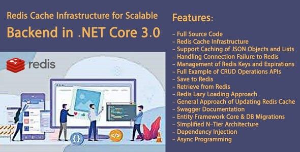 Redis Cache Infrastructure for Scalable Backend in .NET Core 3.0