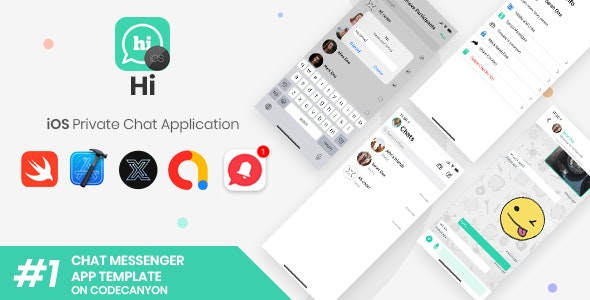 HI | iOS Private Chat Messaging Application [XServer] - CodeCanyon Item for Sale