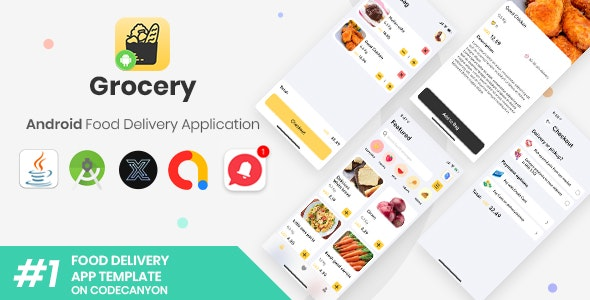 Grocery   Android Single Food Delivery Store Application [XServer] - CodeCanyon Item for Sale