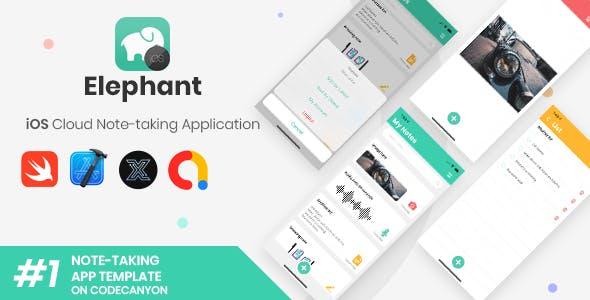 Elephant | iOS Cloud Note Taking Application + Web version [XServer]