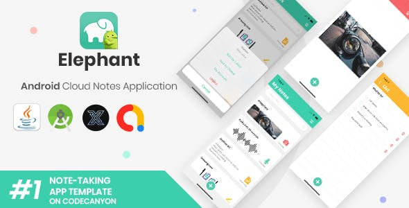 Elephant | Android Cloud Note Taking Application + Web version [XServer]