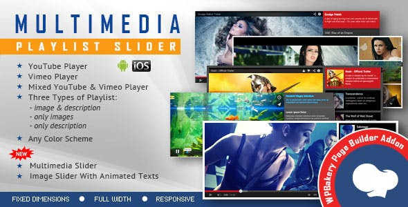 Visual Composer Addon - Multimedia Playlist Slider for WPBakery Page Builder