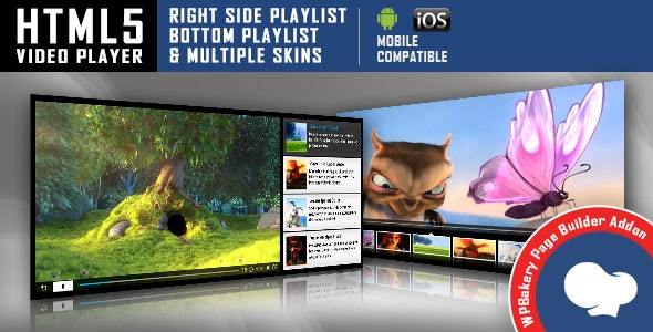 Visual Composer Addon - HTML5 Video Player for WPBakery Page Builder - CodeCanyon Item for Sale
