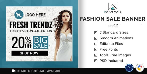 Shopping & E-commerce | Fashion Sale Banner (SE012)