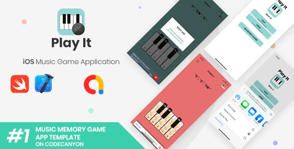 Play It | iOS Minimal Endless Music Game Application - CodeCanyon Item for Sale
