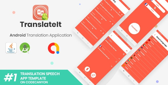 TranslateIt | Android Speech and Text Translations Application - CodeCanyon Item for Sale