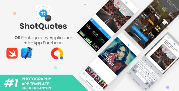 ShotQuotes | iOS Photography Application + In-App Purchase - CodeCanyon Item for Sale