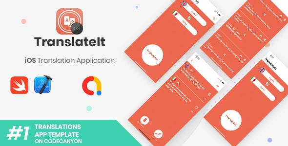 TranslateIt | iOS Speech and Text Translations Application - CodeCanyon Item for Sale