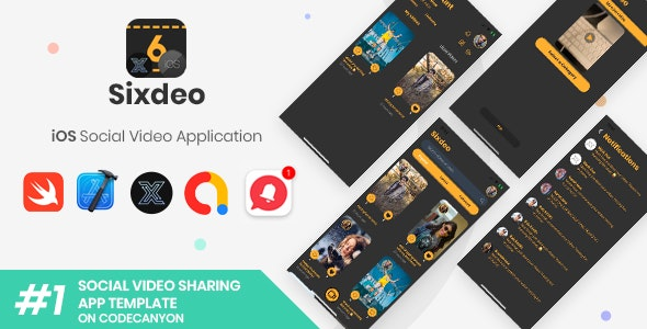 Sixdeo | iOS Social Video Sharing Application [XServer] - CodeCanyon Item for Sale