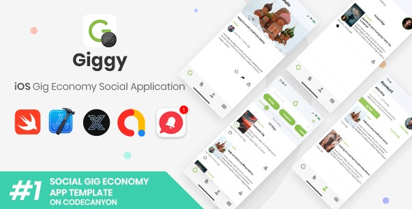 Giggy | iOS Gig Economy Social Application [XServer] - CodeCanyon Item for Sale