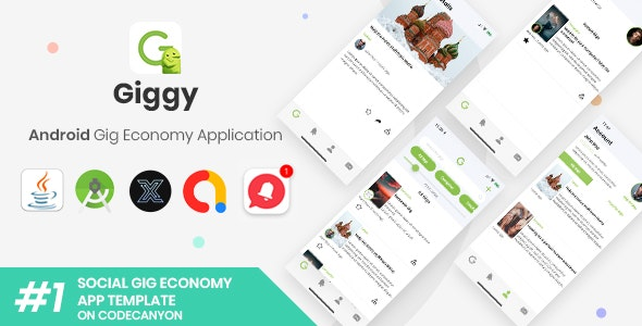 Giggy | Android Gig Economy Social Application [XServer] - CodeCanyon Item for Sale