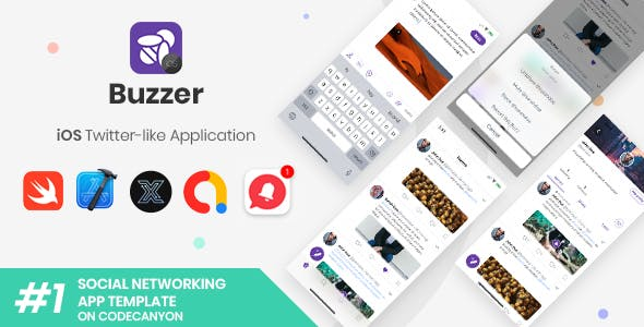 Buzzer | iOS Twitter-like Social Application [XServer]