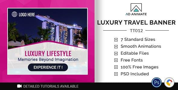 Tour & Travel | Luxury Travel Banner (TT012)