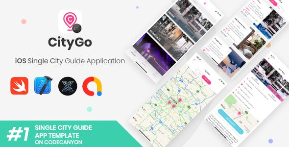 CityGo | iOS Single City Guide Store Finder Application [XServer]
