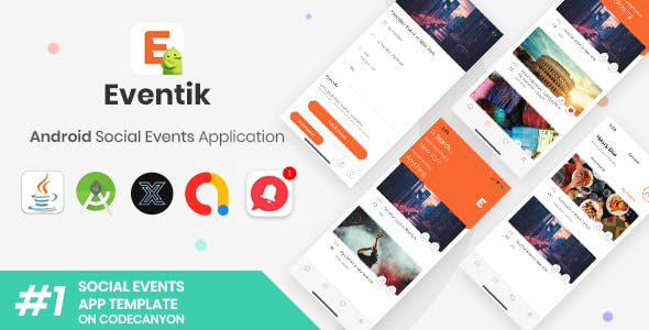 Eventik | Android Social Events Application [XServer]